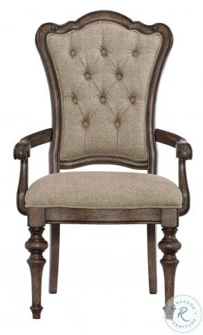 Heath Court Brown Oak Arm Chair Set Of 2