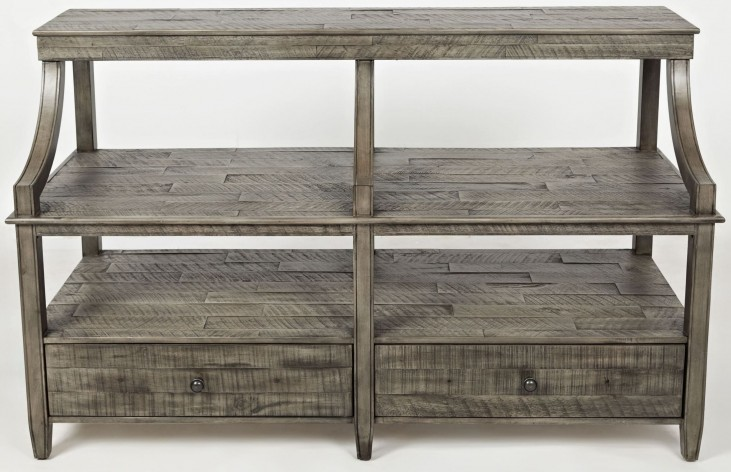 Tremblant Rustic Platinum Sofa Table