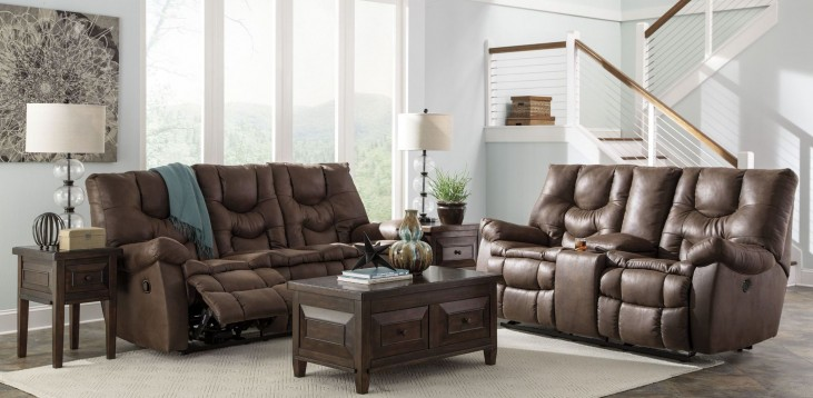 Burgett Espresso Reclining Living Room Set