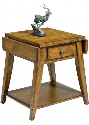 Treasures Oak Splay Leg End Table