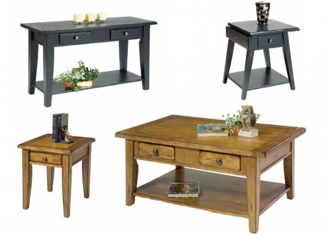 Treasures Black Occasional Table Set