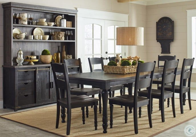 Madison County Vintage Black Rectangular Extendable Dining Room Set From Jofran Coleman Furniture