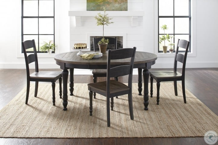 Madison County Vintage Black Extendable Round Dining Room Set From Jofran Coleman Furniture