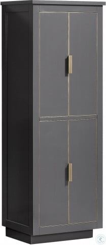 """Twilight Gray 24"""" Linen Tower with Gold Trim"""