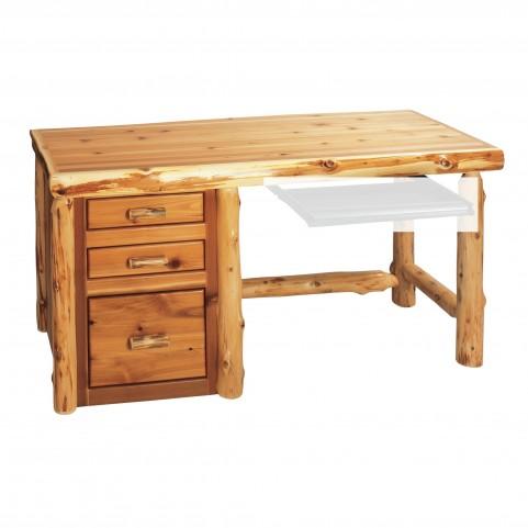 Cedar Standard Right Side File Desk Without Keyboard Slide