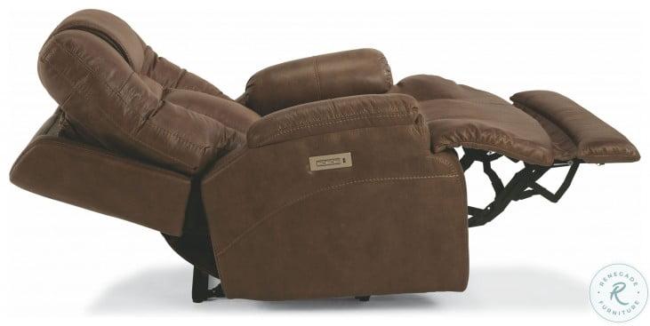 Marley Light Brown Power Recliner With Power Headrest