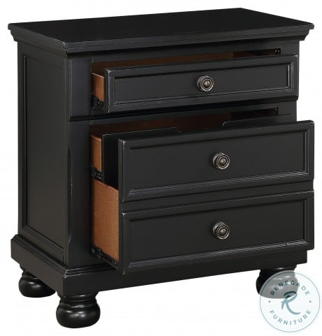 Laurelin Black Nightstand