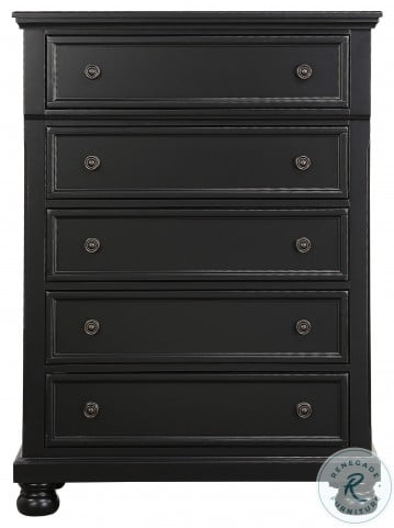 Laurelin Black Sleigh Storage Bedroom Set