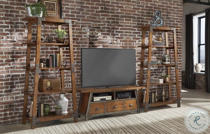 Holverson Rustic Brown And Gunmetal Bookcase