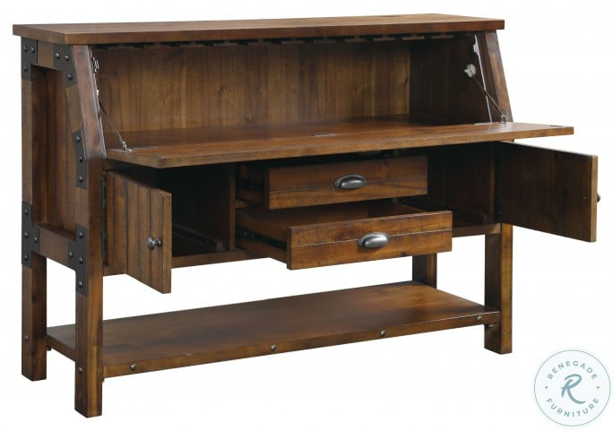 Holverson Rustic Brown And Gunmetal Buffet