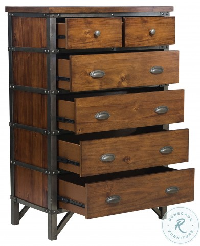 Holverson Rustic Brown And Gunmetal Chest