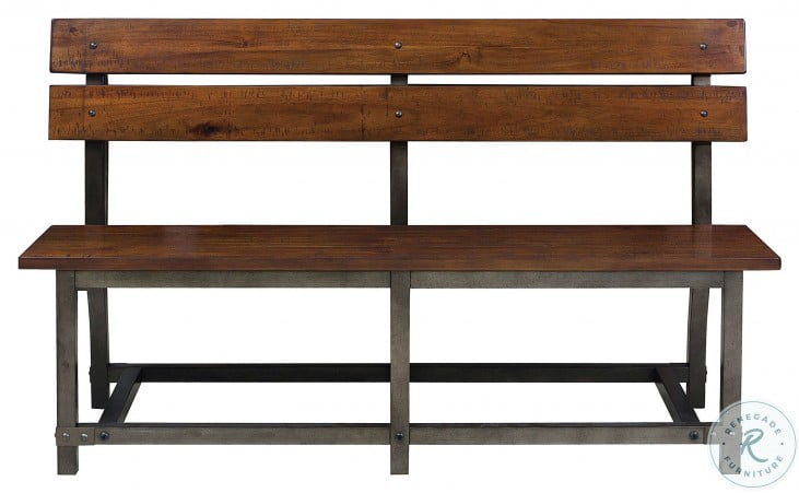 Holverson Rustic Brown And Gunmetal Bench