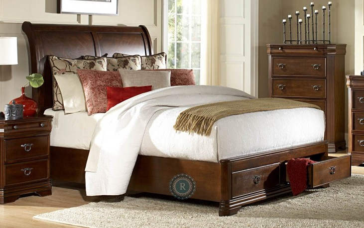 Karla Cal. King Sleigh Storage Bed