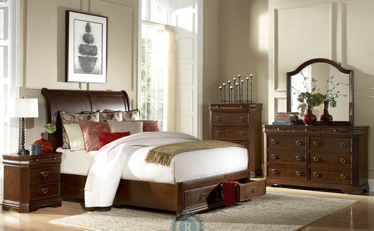 Karla Sleigh Storage Bedroom Set