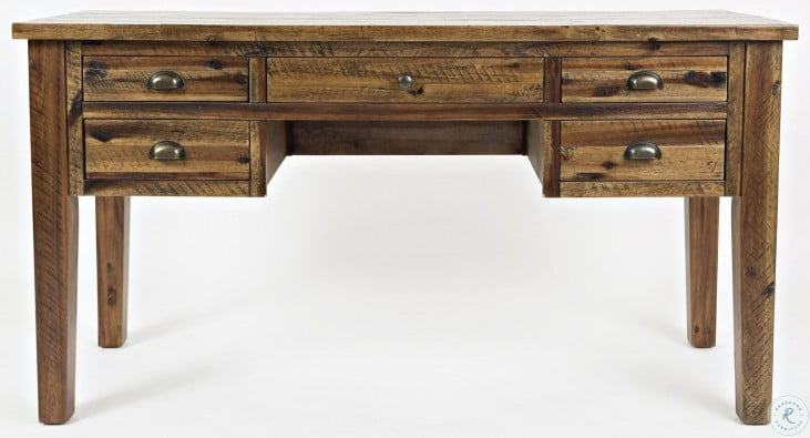 Artisans Craft Dakota Oak 5 Drawer Desk