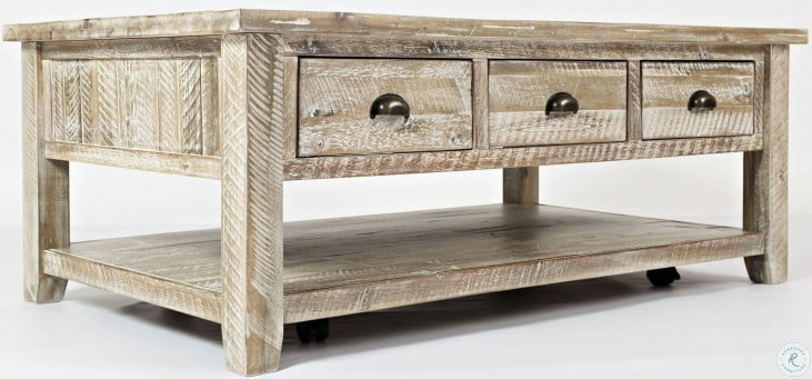 Artisan's Craft Washed Grey Occasional Table Set