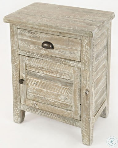 Artisans Craft Washed Grey Accent Table