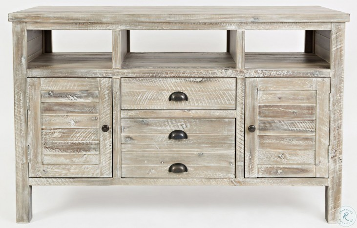 """Artisans Craft 50"""" Washed Gray Media Console"""
