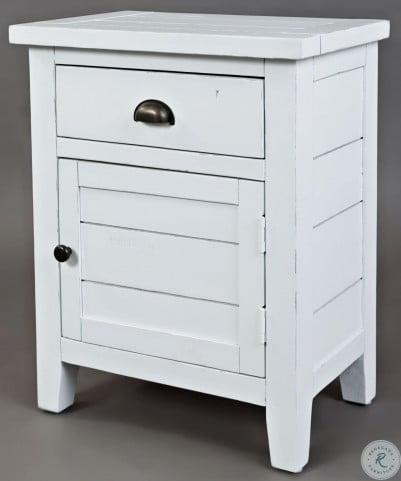 Artisans Craft Weathered White Accent Table