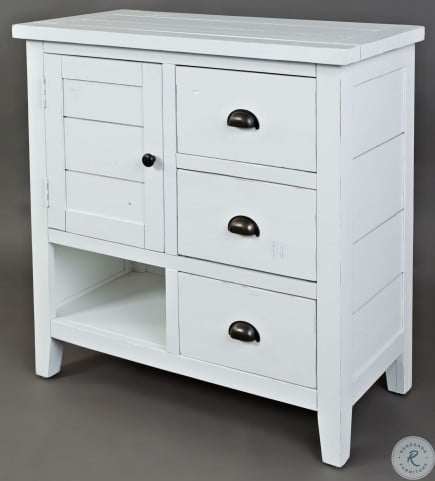Artisans Craft Weathered White Accent Chest