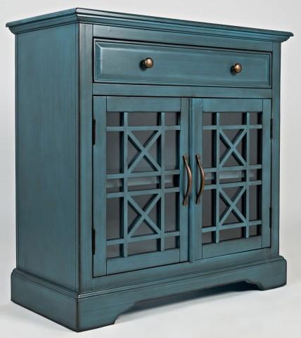 Craftsman Antique Blue Accent Chest