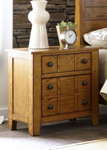 Grandpa's Cabin Aged Oak Drawer Nightstand