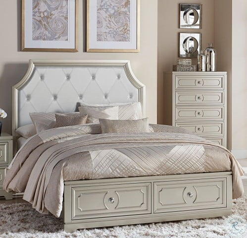 e8a0bf553400 LOOKS GREAT WITH. Image of item Libretto Silver Queen Platform Storage Bed
