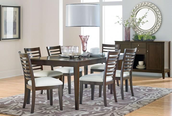 Noveau Dark Merlot Extendable Leg Dining Room Set