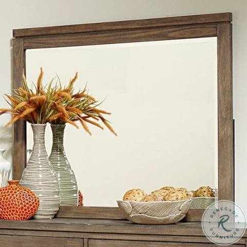 Lyer Rustic Brown Mirror