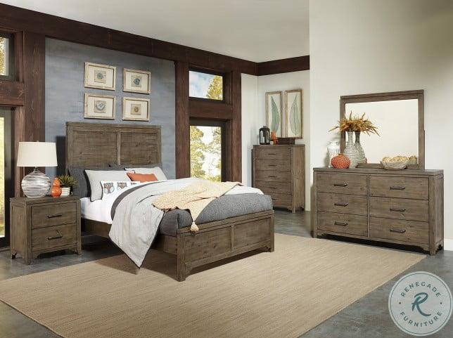 Lyer Rustic Brown King Panel Bed