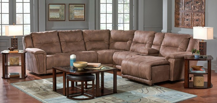 Montgomery Cement Power Reclining Sectional with Console