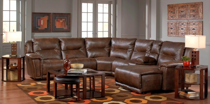 Montgomery Timber Reclining Sectional with Console
