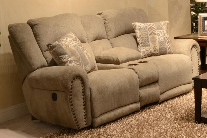 Stafford Platinum Power Reclining Loveseat with Console