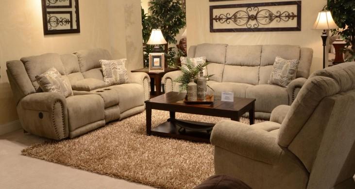 Stafford Platinum Reclining Living Room Set