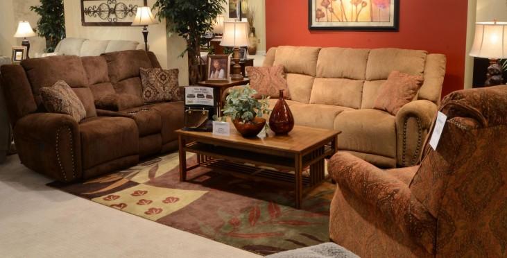 Stafford Caramel Power Reclining Living Room Set