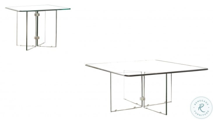 Alouette Clear Occasional Table Set