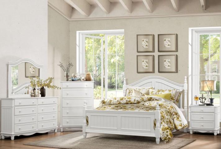 Clementine White Postal Bedroom Set