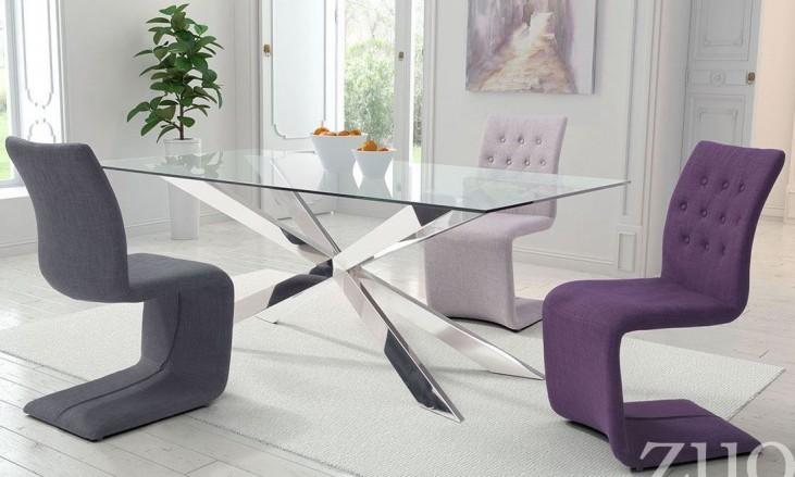 Rize Chrome Rectangular Dining Room Set