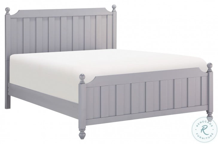 Wellsummer Gray Queen Poster Bed