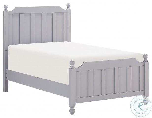 Wellsummer Gray Twin Poster Bed