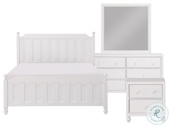 Wellsummer White Queen Poster Bed