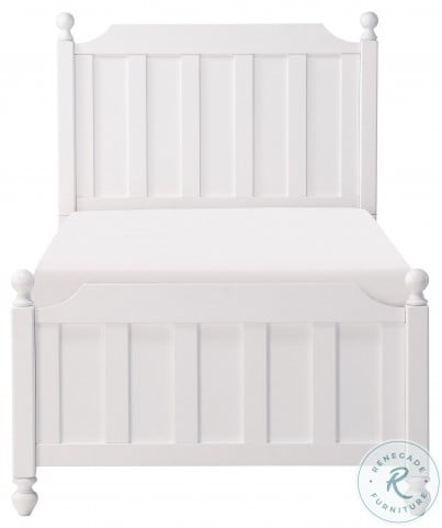 Wellsummer White Twin Poster Bed