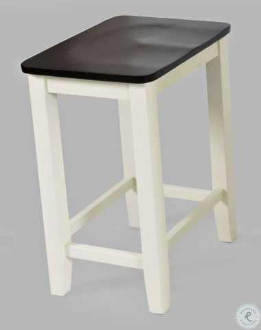 Asbury Park Autumn Brown And White Backless Saddle Counter Height Stool Set Of 2