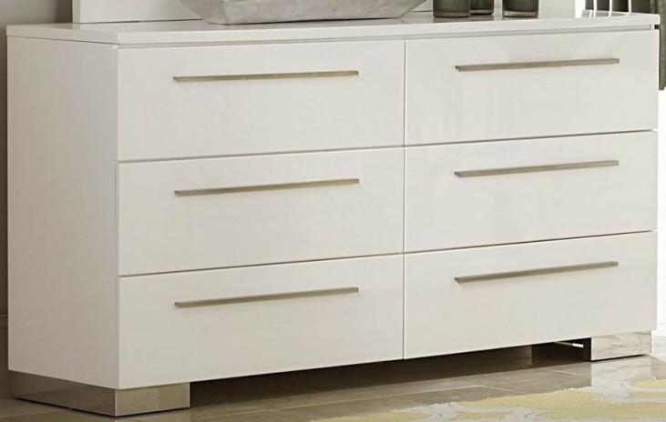 Linnea White High Gloss Dresser