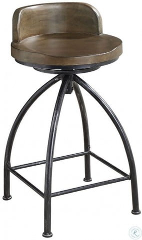 182047 Cognac And Black Counter Height Stool