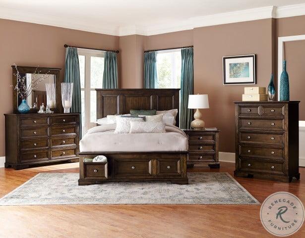 Eunice Espresso Youth Storage Platform Bedroom Set