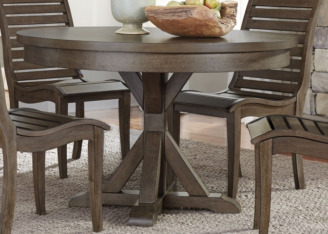 Bayside Crossing Chestnut Round Dining Table