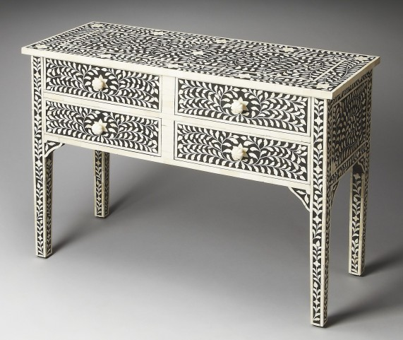 Vivienne Bone Inlay Heritage Console Table