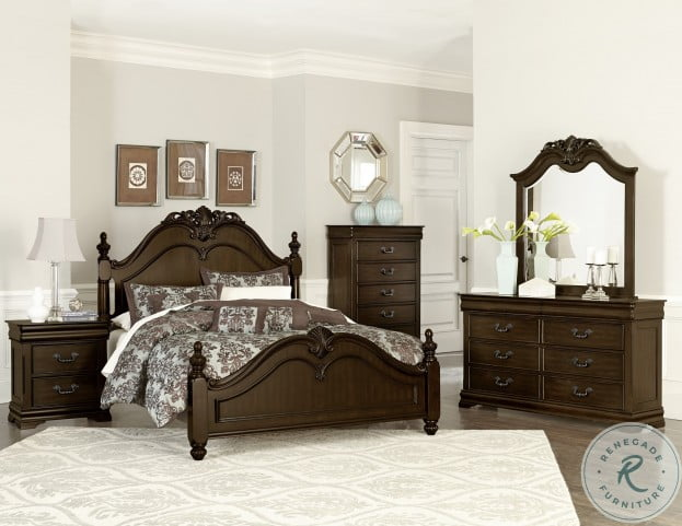 Mont Belvieu Cherry Poster Bedroom Set