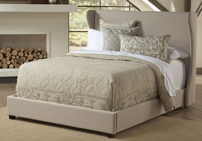 Wing Queen Upholstered Bed
